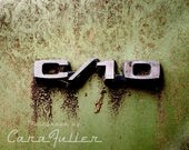 C/10 Emblem on Green Chevy  Photograph