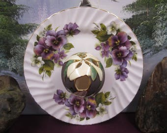 Luxford made in England bone china plate with lilac flowers