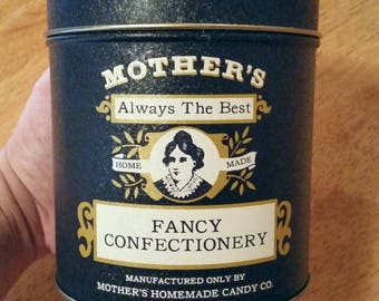 Mother's Candy Tin Confectionery Container Vintage 1900's Style Home Decor Accent or Gift Box Idea