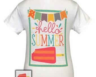 Girlie Girl Hello Summer Tshirt (Kids)