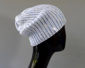 coarsely knitted Beanie hat made from fine Italian Merino Wool