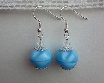 Old glass and Crystal beads earrings