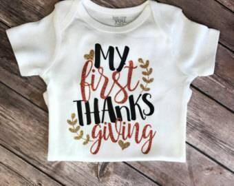 Thanksgiving baby onsies