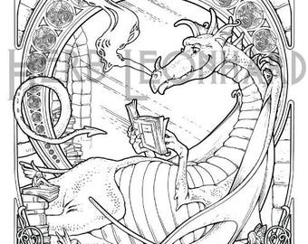 Herb Leonhard Adult Coloring Page Fantasy Nouveau Book Digital