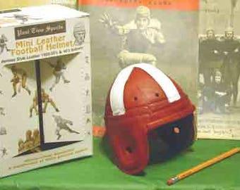 1940 Mini Oklahoma Leather Football Helmet (1/3 scale)