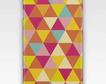 Case for iPhone 8, iPhone 6s,  iPhone 6 Plus,  iPhone 5s,  iPhone SE,  iPhone 5c,  iPhone 7 - Multicoloured Triangles Pattern Case