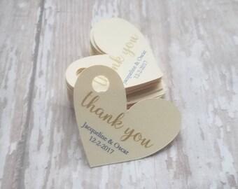 Heart shaped tags Etsy