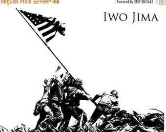 40% OFF Sale Iwo Jima Drawing T shirt