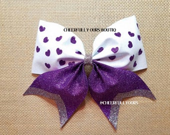 Best and Trending Customized Unique Sparkle Glitter Cheer Bow by CHEEFFULLY OURS BOUTIQ