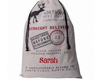Blank santa sacks
