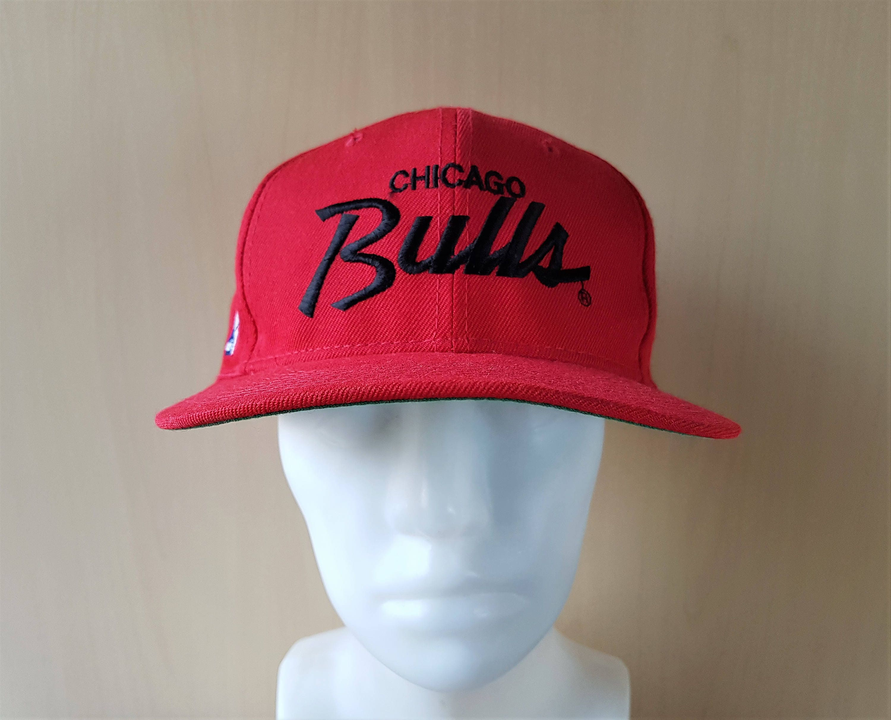 dbcad23c ... 50% off vintage 90s chicago bulls sports specialties single line script  snapback hat official nba