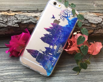 Hogwarts Twilight iPhone Case, Your choice of Soft Plastic (TPU) or Wood