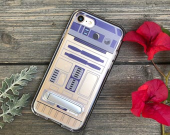 R2D2 Robot Phone Case for iPhone 7 and 8 with Kickstand and Bumper