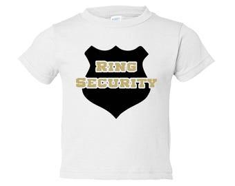 Ring Security Shirt / Ring Bearer Gift / Ring Bearer Outfit / Ring Bearer Shirt / RingBearer Gift / RingBearer Shirt