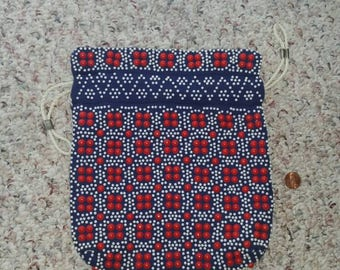 Vintage reversible beaded purse