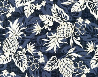 Island Paradise by Sevenberry for Robert Kaufman - Pineapples and Flowers White | PRE-ORDER Fabric | Quilting, Sewing, Home Decor Supplies