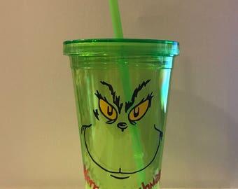 Grinch Tumbler - Merry Grinchmas