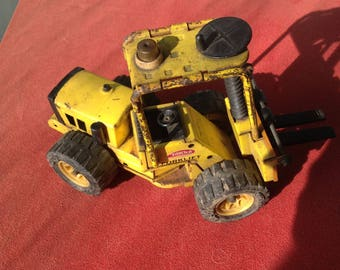 Vintage Tonka Yellow Forklift Diecast toy from 1970's