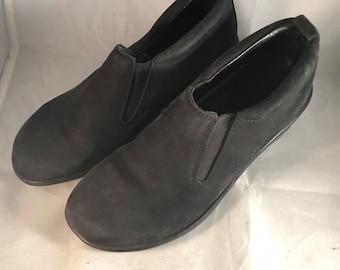 Vintage Solve by Dansko black nubuck slip on mules 5 1/2-6 36 Euro