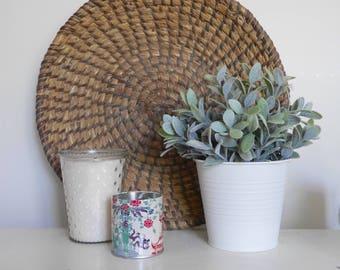 Large Vintage Round Bowl Basket Wall Decor Woven, Winnowing Basket