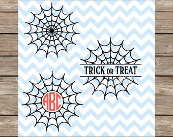 Halloween svg, Spider Web svg, Fall svg, Monogram svg, Circle Monogram svg, Fall, Halloween, Spider web, Spooky svg, Autumn, Autumn svg, dxf