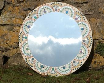 Circular Pattern Mosaic Mirror