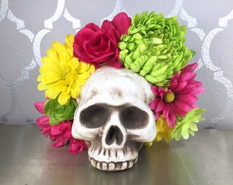 Bright Flower Crown Pink Lime Green and Yellow