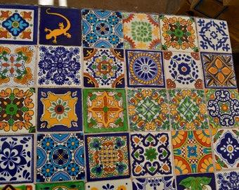 "24 Mexican Talavera Tile mix 4x4"""