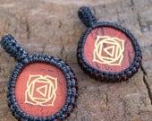 Red Jasper Macrame Pendant / Stone Pendant