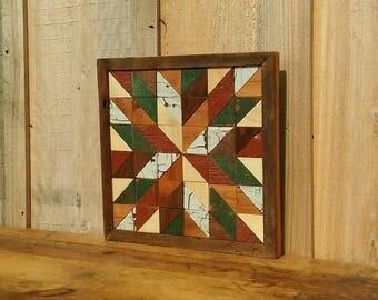 wooden barn quilt,  rustic quilt decor, farmhouse decor