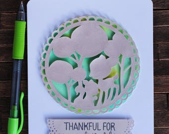 WOODLANDS | Friendship Card - Thankful For Your Friendship (fawn & squirrel)