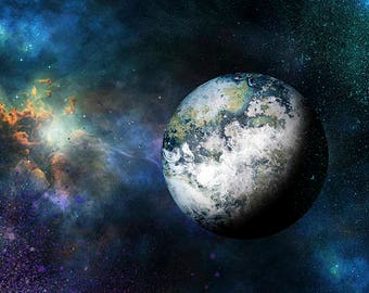 Outer Space Wall Art, Planet Art Prints, Boys Room Wall Decor, Universe Art, Outer Space Decor, Galaxy, Cosmos, Nebula, Intergalactic