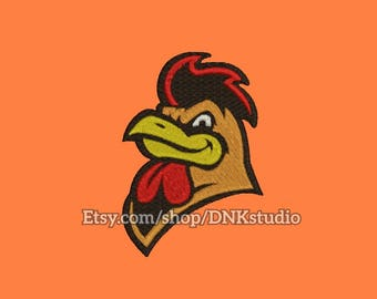 Rooster Machine Embroidery Design - 6 Sizes - INSTANT DOWNLOAD
