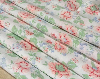 Pretty French Vintage Floral Cotton Fabric