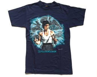 Deadstock 90's Bruce Lee Matrial Arts Short sleeve t shirt 90s bruce lee shirt size Medium 100% Cotton M men's single stitch vintage