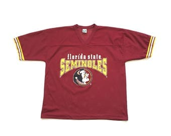 90s Florida State Seminoles NCAA Football jersey size XL Xlarge made in usa perforated activewear top
