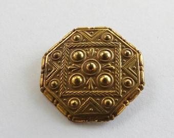 Mariam Haskell Brass Brooch