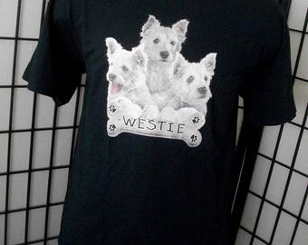 I Love My Westie - dog lover t-shirt XL black cotton tee - Makes a great gift!