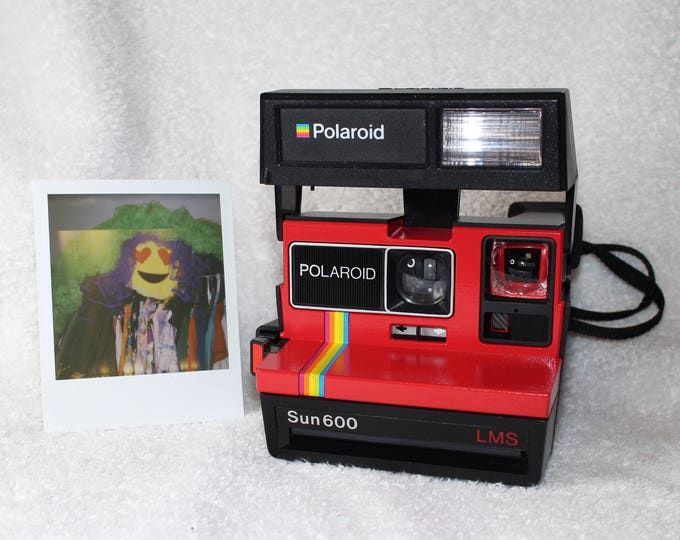Red Rainbow Polaroid Sun 600 - Works Great, Tested and Cleaned