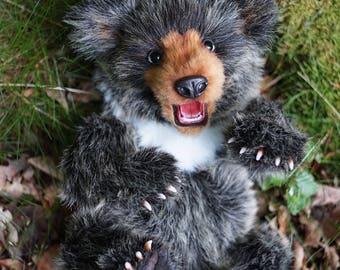 OOAK Artist Realistic Teddy Bear Teddybär 43 cm
