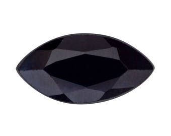Black Sapphire Marquise Cut Faceted Loose Gemstone 1A Quality 6x3mm 0.25 cts.