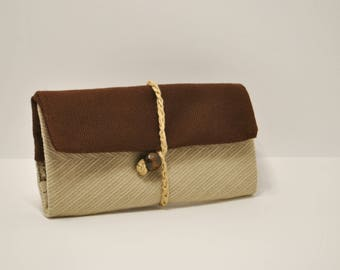 Beige Tobacco Pouch, Beige Tobacco Bag, Brown Tobacco Case, Brown Tobacco Bag, Gift For Smokers