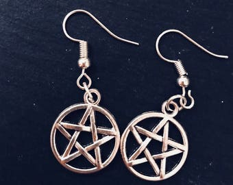Bewitched Pentagram Earrings