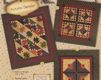 Tokens of the Past Autumn Sampler Quilt Patterns by Pam Buda for Heartspun Quilts