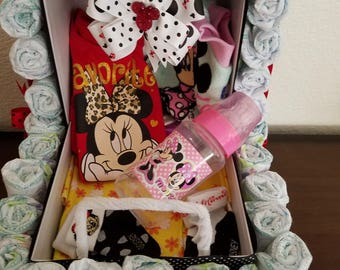 Minnie Mouse diaper stroller