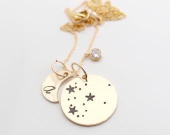 Etsy Handmade Zodiac Jewelry /Personalized Constellation Gifts/Personalized Zodiac Gifts/Best Friend Gift Ideas/Star and Moon Zodiac Gift