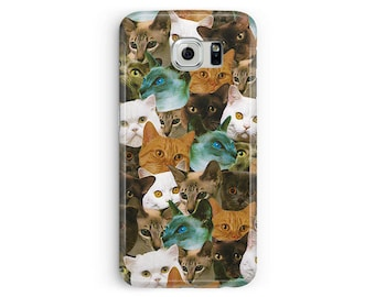 Cats case for Samsung S8, Cat Phone Case, Cat Lover Gift, Cat Samsung Case, S8 Plus Case, Cats Cell Case, Kawaii S8 Case, Because Cats Case