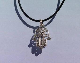 Hamsa Hand Necklace, Hippie Boho Jewelry, Hamsa Eye Jewelry