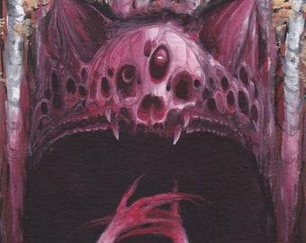 """Original painting (4x5"""") chirothrope"""