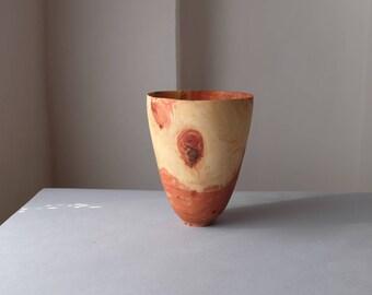 Carob Wood Vase, Hand turned Vase, Woodturning, Handmade Vase, Woodturning Vase,One of a Kind Vase,Anniversary Gift,Office Decor, Home Decor